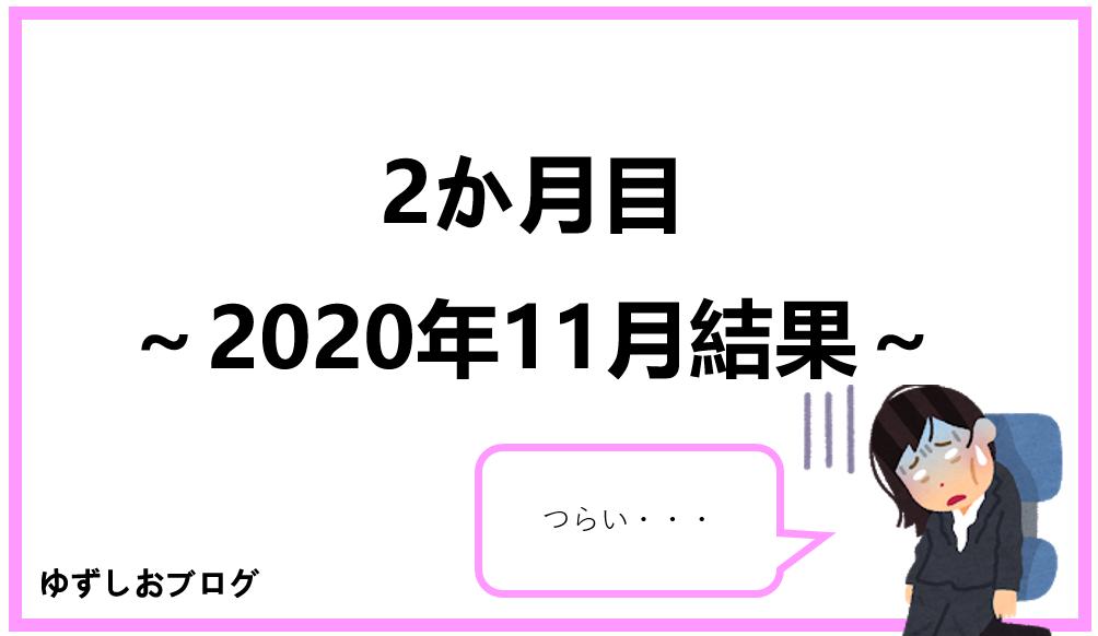 2か月目~2020年11月結果~