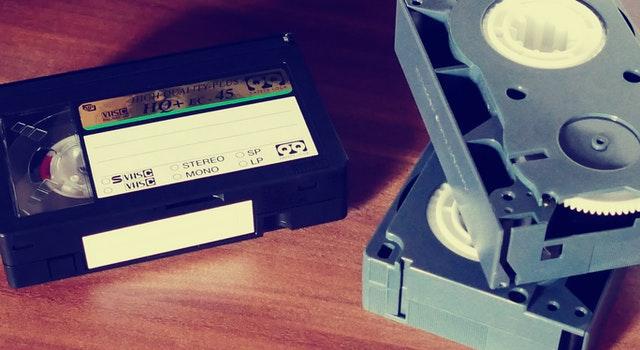 VHSビデオテープの写真