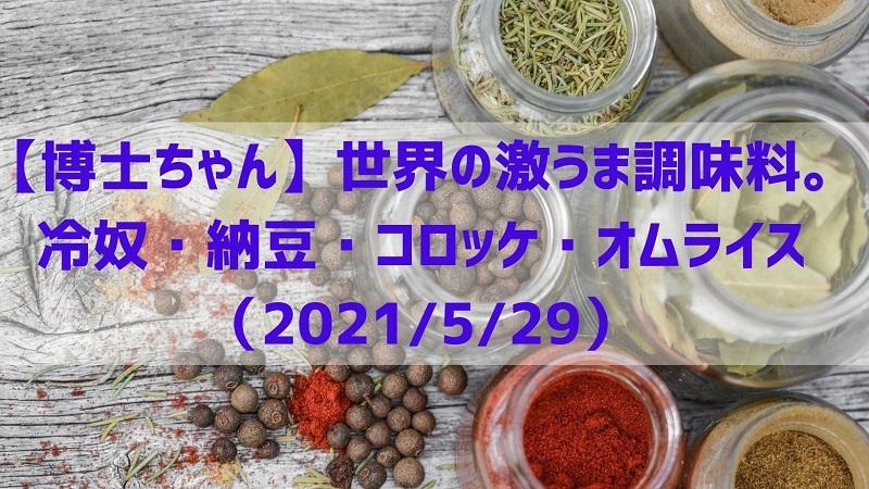 博士ちゃん調味料20210529