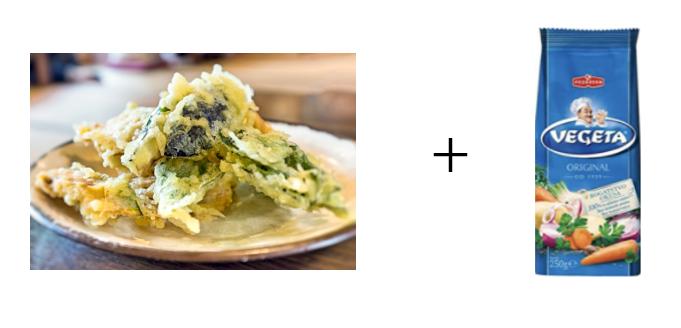 野菜の天ぷらとベゲタ